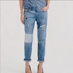 J.Crew Broken in Boyfriend Distressed Jeans
